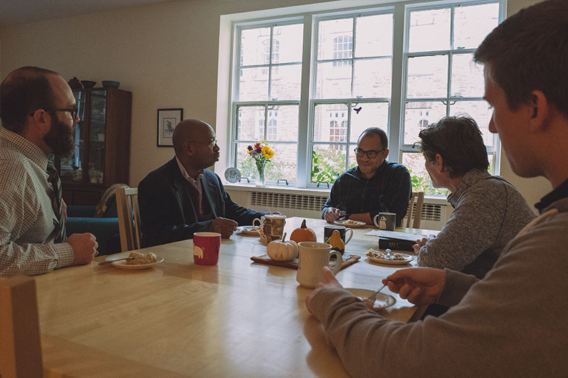 Student advisors meet with the Academic Dean at The General Theological Seminary
