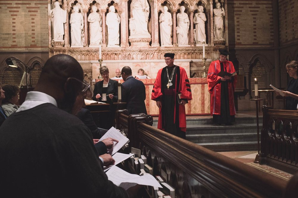 The matriculation ceremony at The General Seminary of the Episcopal Church