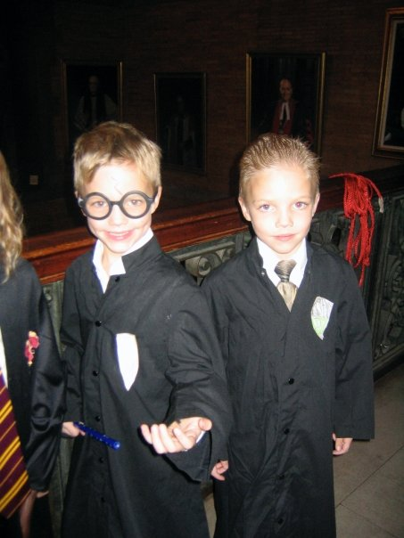 Caleb and Emmie at General's Hogwarts Party 2004.