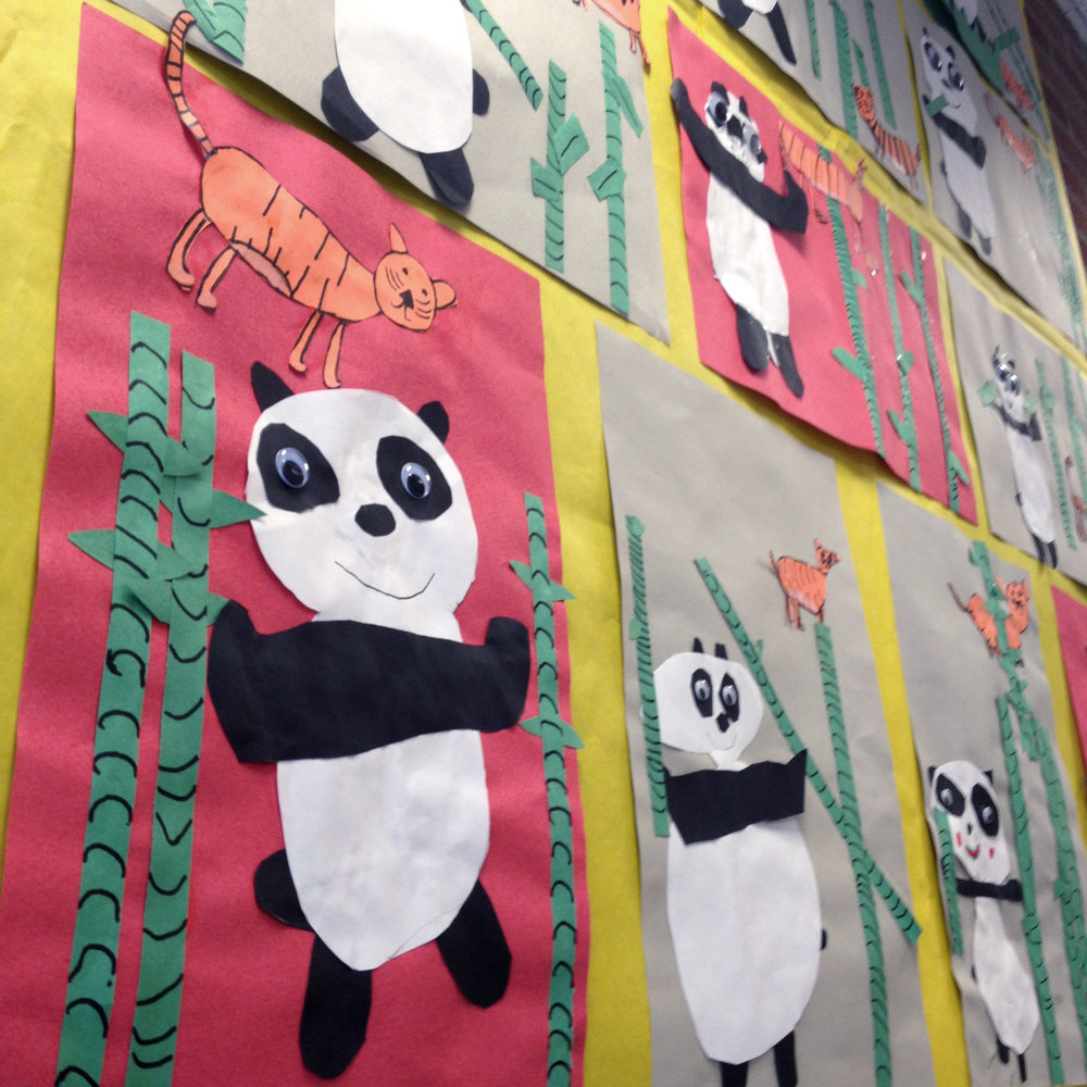 "Children's art based on ""Little Panda"" by Renata Liwska"