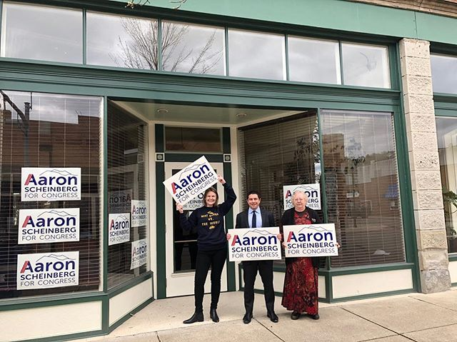 I'm loving our new office space in Charleston, check it out! Come by today before 4 pm to pick up your sign (303 W. Washington St.) and join us TONIGHT at Bluegrass Kitchen from 5-7 pm to grab a beer and listen to some great music with us! #ScheinOn
