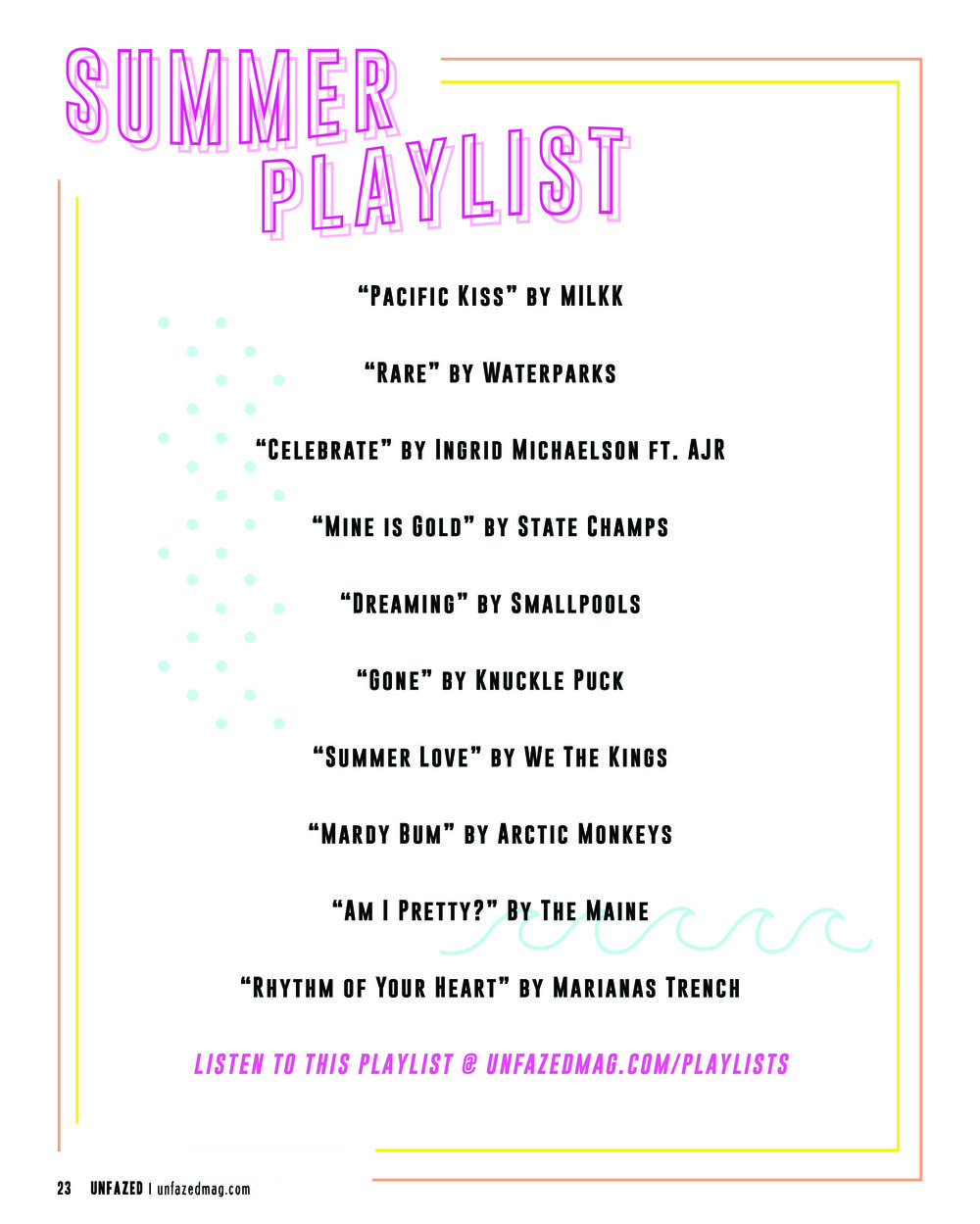 Summer'18 Playlist - Curated by the Unfazed Team for Issue #5. Listen below!
