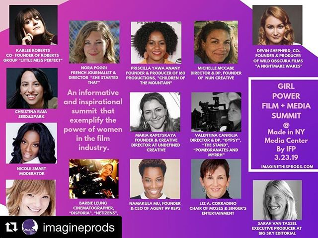 The 2nd GIRL POWER FILM + MEDIA SUMMIT 2019 at the @nymediacenter is taking place THIS Saturday, March 23rd ✨✨#linkinbio👆to learn more about programming & tickets! 🎫💥_________________________________________________ #Repost @imagineprods with @get_repost ・・・ #WCW We are thrilled to announce the speakers and mentors for the 2nd GIRL POWER FILM + MEDIA SUMMIT 2019 at the @nymediacenter on March 23rd ✨✨ A power base of women gamechangers and changemakers in the film and media industry that will share their passions and motivate the next generation of female filmmakers. Go to imagineprods.com to learn more. Link in bio 🔝#girlpowersummit #womenshistorymonth #thepowerofwomen  What to expect: •Admission to Girl Power Film + Media Summit •Discussion Panels •Workshops •Screenings •Continental Breakfast •Girl Power Dinner/ Mixer •Gift Bag •Meet with speakers