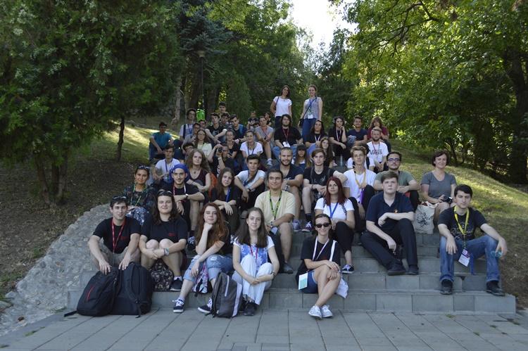 O parte dintre participanți, în excursia de la Cluj