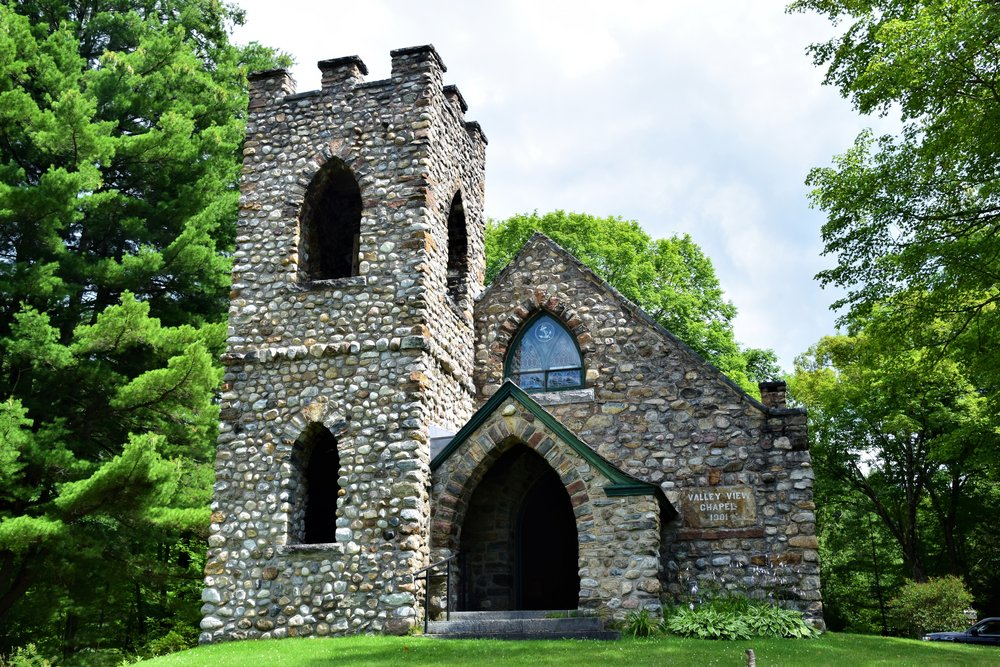 A chapel in the town of Ticonderoga. Not at the Fort.