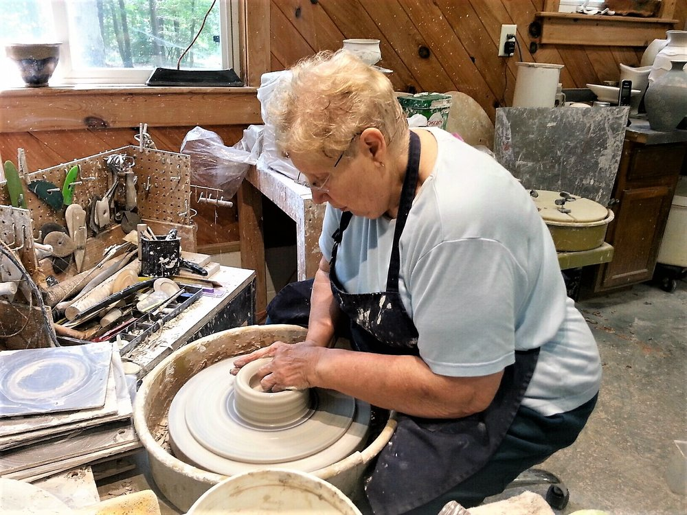 Linda Dalton in her studio. West End, NC