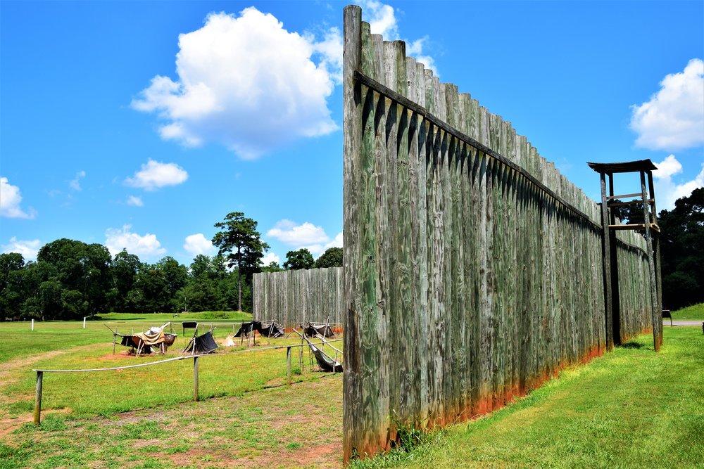 Andersonville Prison walls