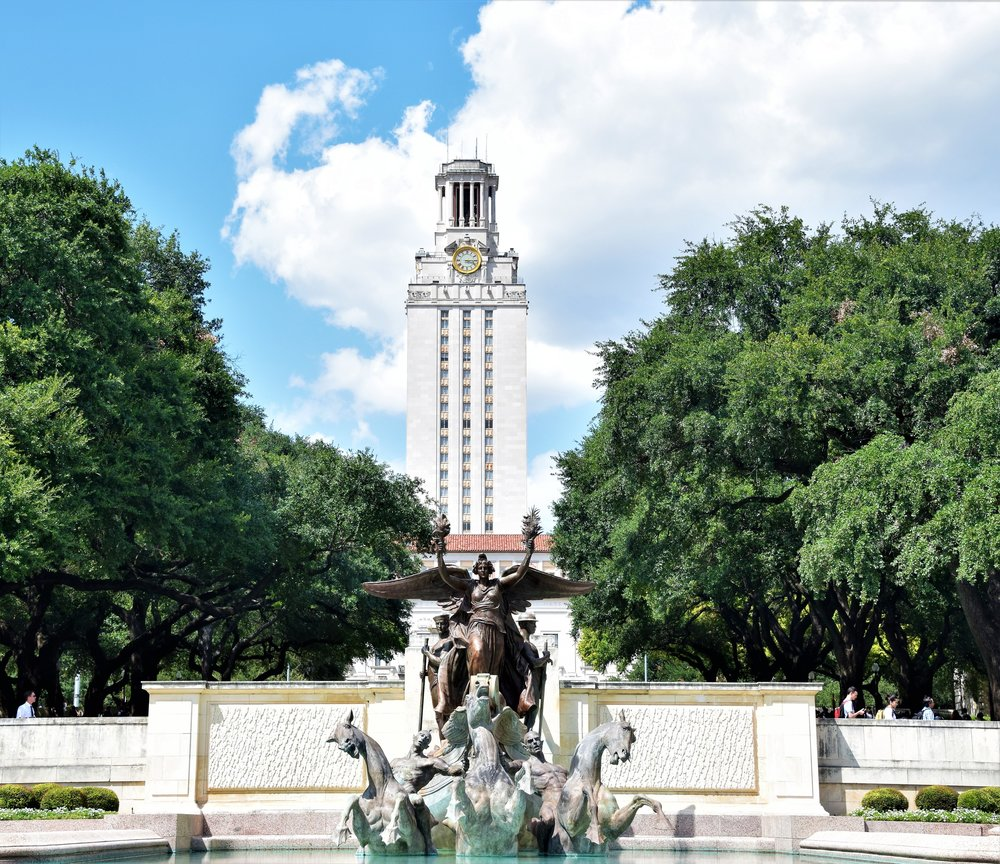 UT Tower and Fountain