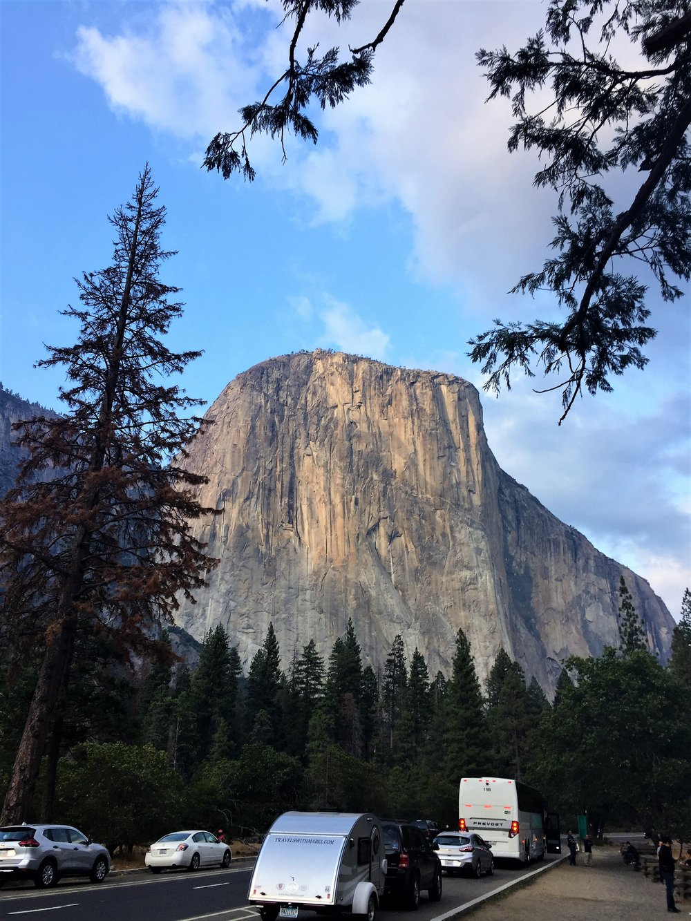 Arabella in front of El Capitain, Yosemite NP