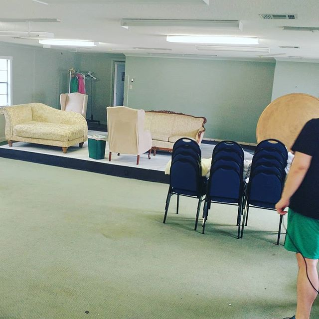 It's strike day, y'all!Packing up. Clearing out. Time to get ready for our next show, 'Night Mother'...#company11theatre #mobilealabama #theatre #nightmother