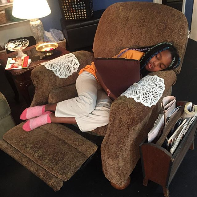 "We're so ready to open we've got time to take naps!! 😴😂 Looking forward to seeing you this weekend or next. ""Night, Mother"" opens THURSDAY, July 26! Link for tickets in bio. . . . #theatrelife #theatrekid #setnap #summercamp #checkingtheprops #techrehearsal #finaldress  #nightmother #co11 #company11theatre"