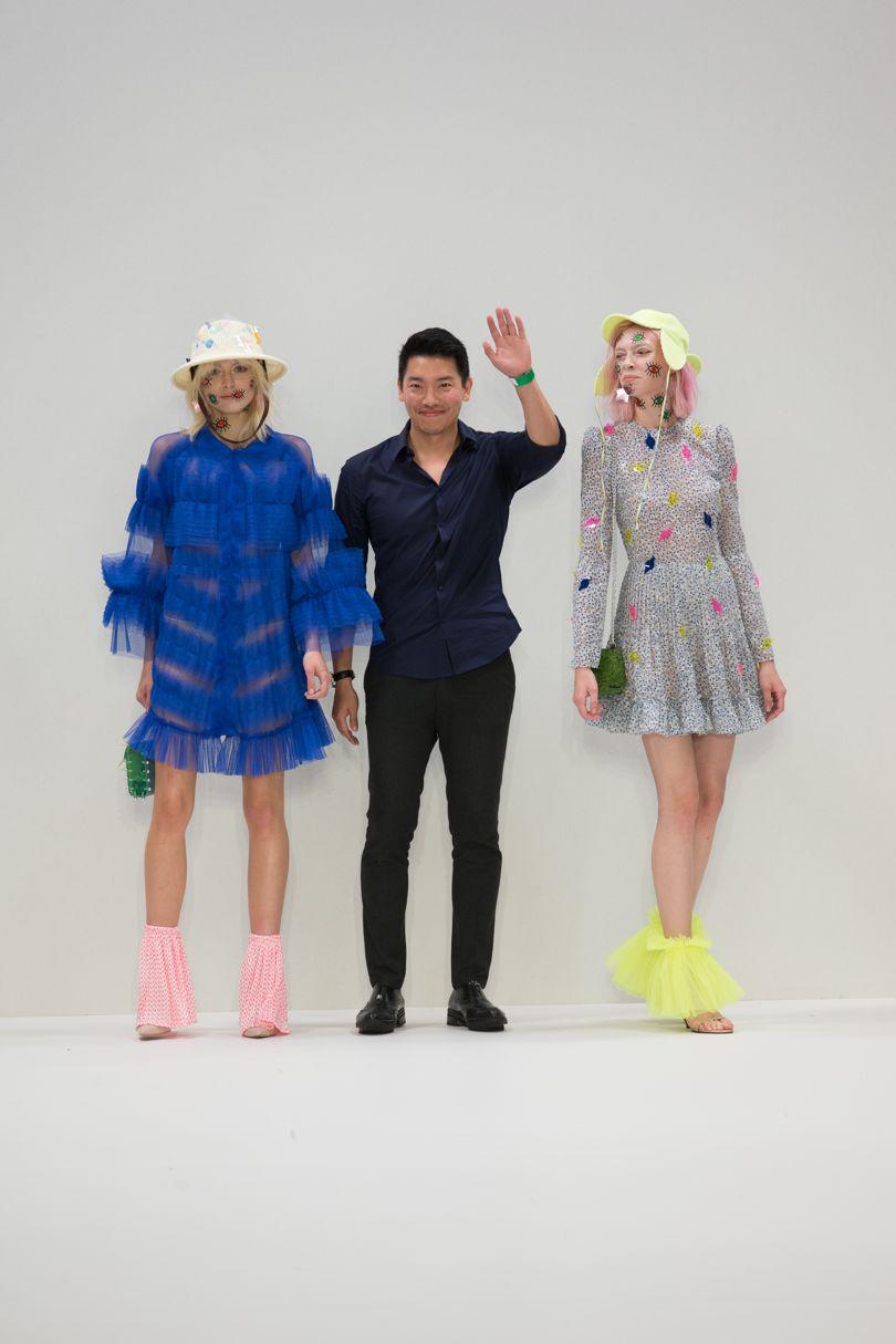 Ike Seungik Lee on the Fashion Scout SS18 runway | Image courtesy of Vogue UK