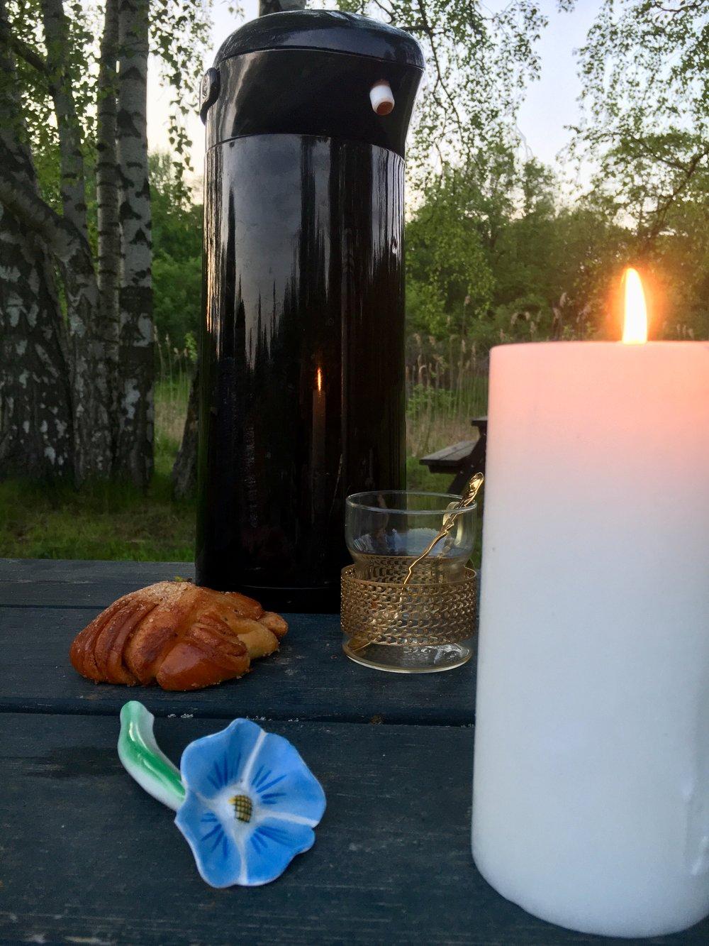 Ekologisk kvällsfika på Kaknäs ängar.