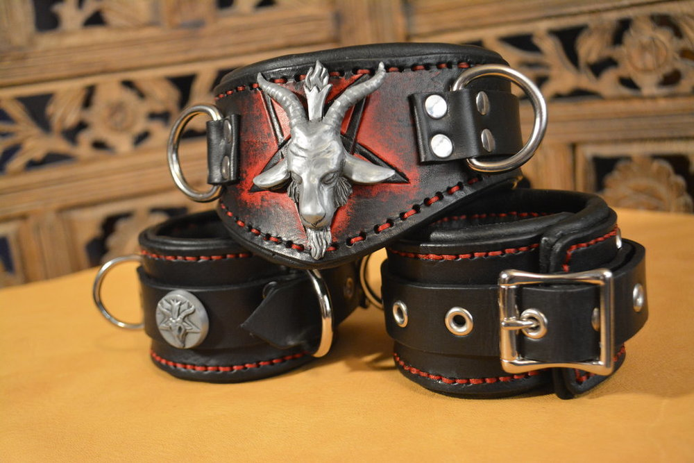 Baphomet Collar & Cuffs
