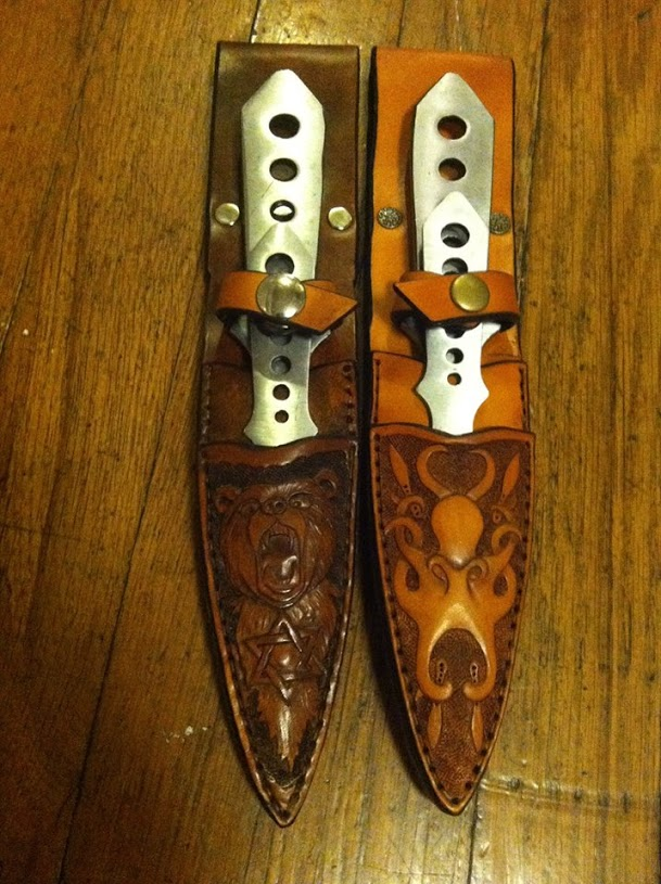 Bear & Octopus Knife Sheaths