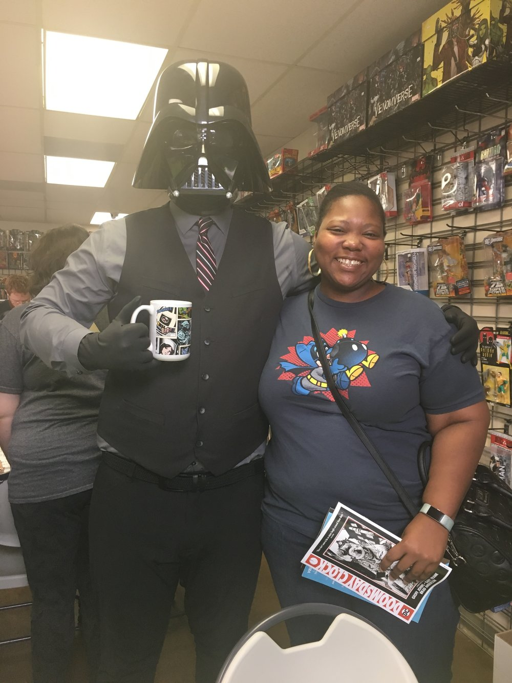 Me and Darth Vader at Free Comic Book Day. Lol