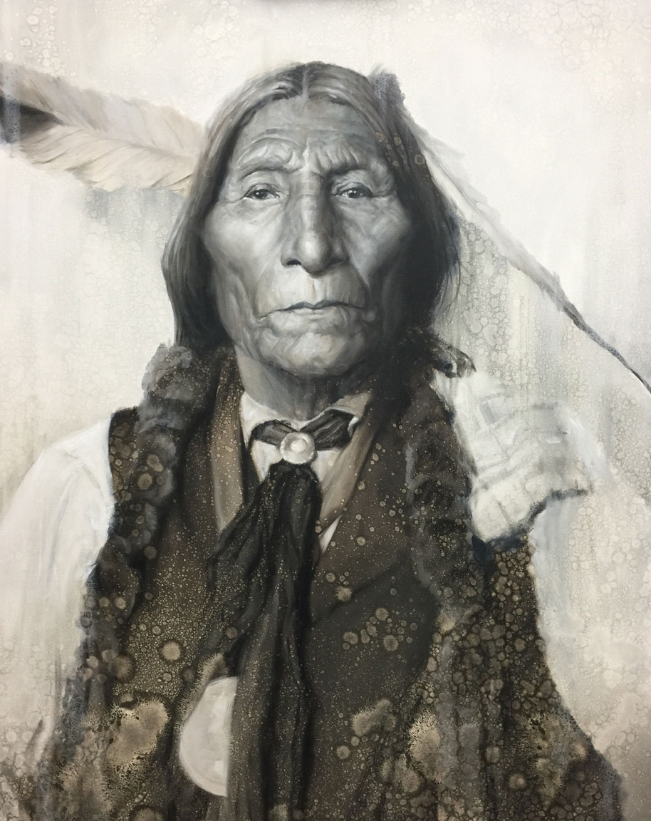 The Medicine Man (Chief Wolf Robe)