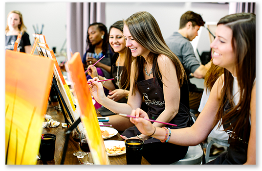 WINE AND DESIGN:  Painting class