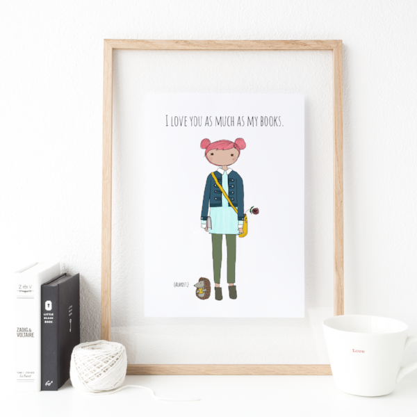 RATHER PUCKISH:  I love you print