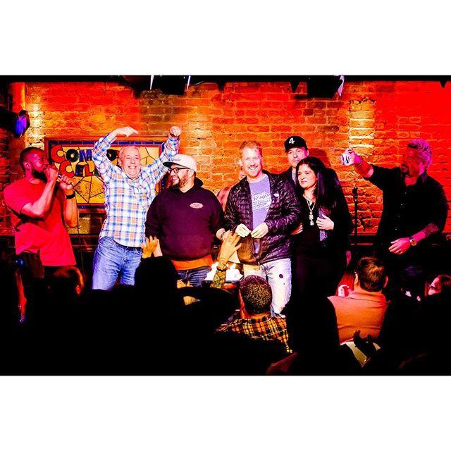 #tbt to Monday @nyccomedycellar for @saborchef Birthday Show #whatanight #smallworldcomedy 📸: @humanplac3s . . . . #chefcarlruiz #birthday #foodnetwork #comedycellar #standup #comedy #opie