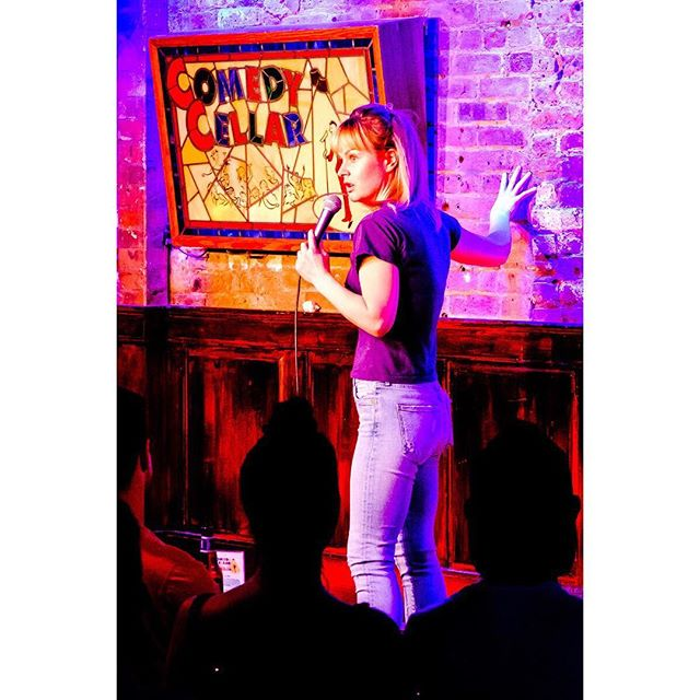 #tbt @rosebudbaker at #SURROUNDED3 #smallworldcomedy  #comedycellar 📷: @humanplac3s