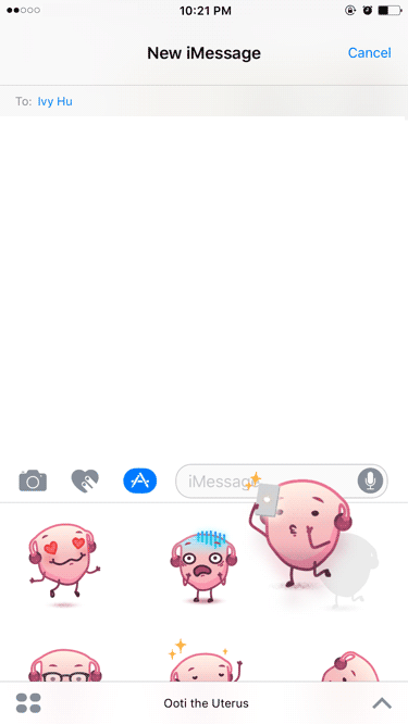 You can also tap+drag stickers onto existing messages, or photos...