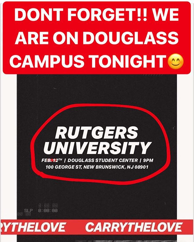 4 minutes away!! Don't forget we will not be meeting on Livingston campus tonight.  We will be at the Douglass Campus Student Center! 100 George Street  New Brunswick, NJ 08901
