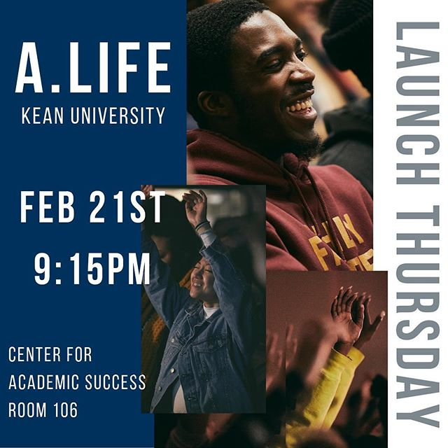 *NEW LOCATION* Our Kean University launch night location has changed to Center for Academic Success Room 106. If you have any questions please DM us. See you tomorrow night! #AlifeKean