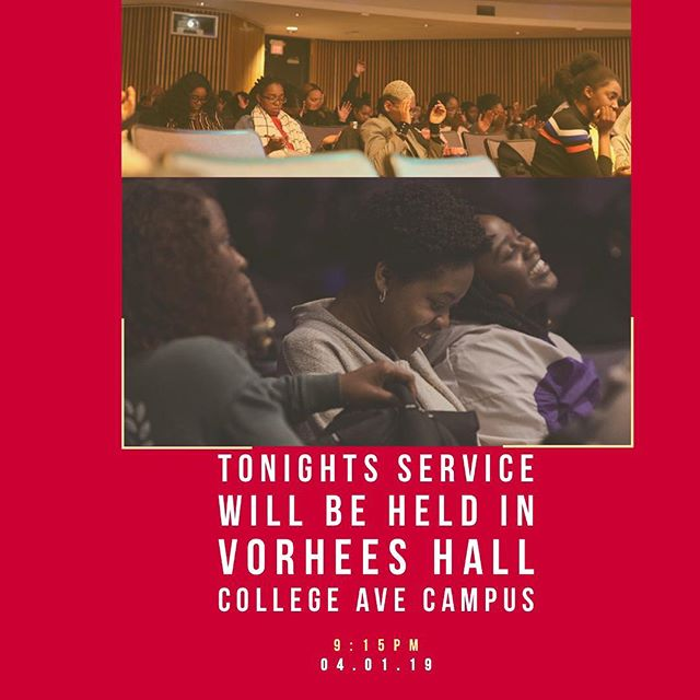 ‼️Friendly reminder‼️ We will not be in our regular room tonight. ———————————————————————————We will be on College Ave Campus Vorhees Hall Auditorium  71 Hamilton St.  New Brunswick, NJ See you all tonight!!