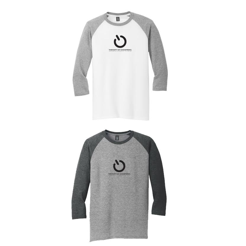TOC Men's 3/4 Sleeve Baseball T