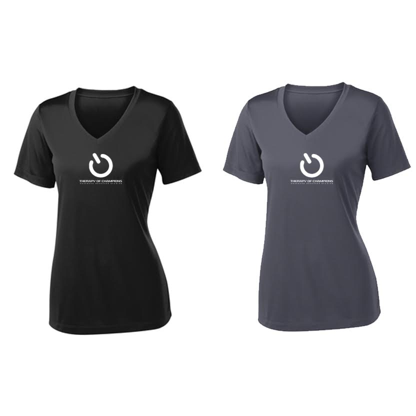 TOC Women's V-Neck Dri Fit Tee