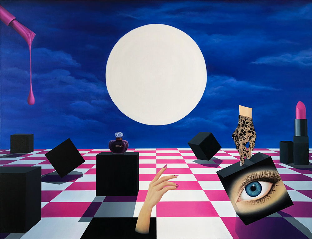 Under thePaper Moon - 46 x 60 in. Oil on Stretched Canvas, 2018