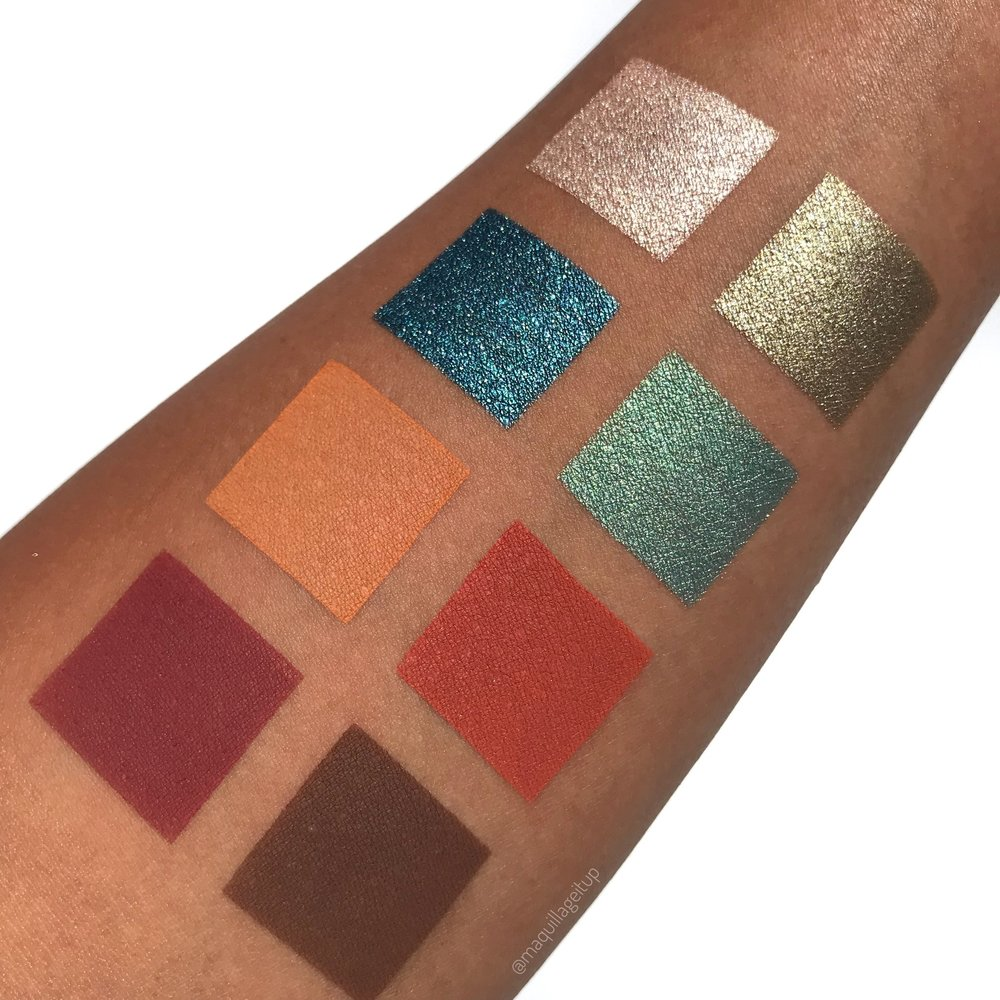 Above: Swatches of