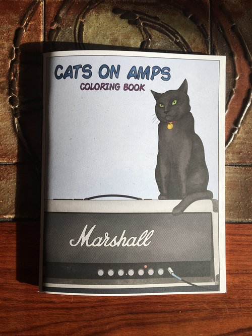 Cats On Amps Coloring Book