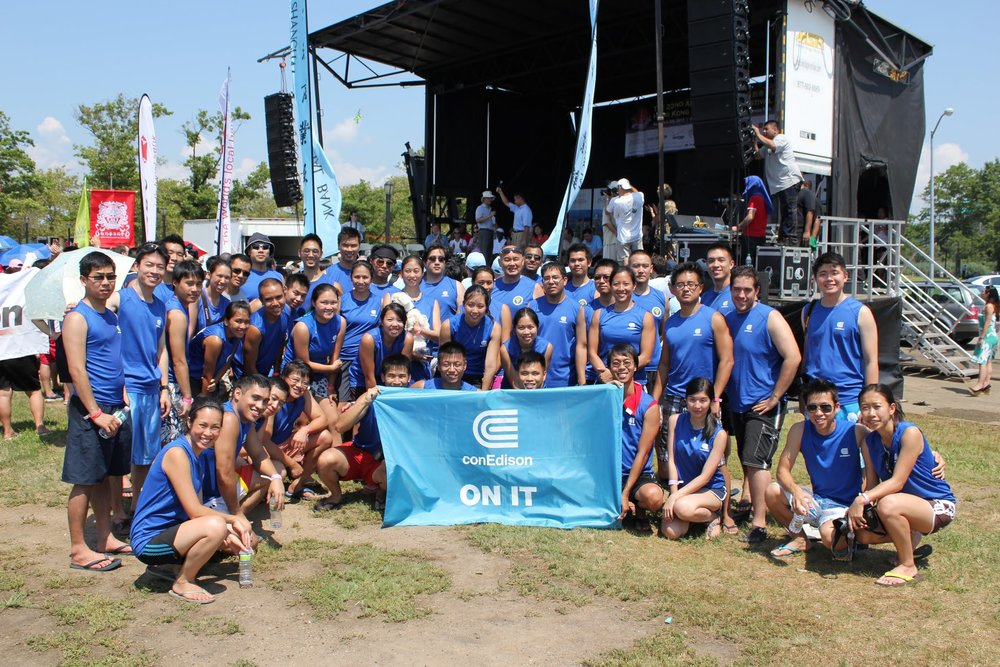Our team during August 2012 at the Hong Kong Dragon Boat Festival in Queens, NYC  Photographer: Silver Lee