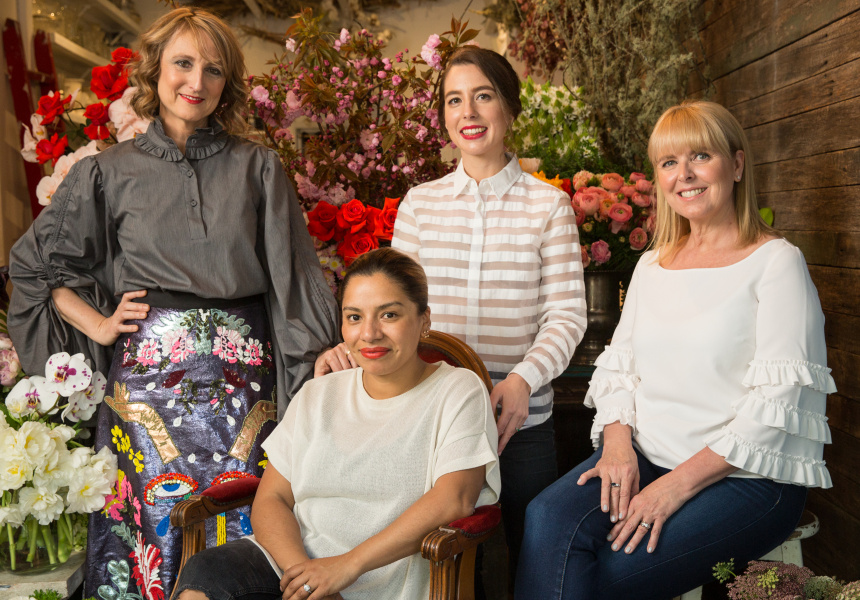02/10 L-R: Bernadette Harvey, Myra Perez, Aristea Mellos, Lynne Bradley