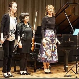 Thank you for the accolades! Pictured: Yura Lee (violin), Romie de Guise-Langlois (clarinet) rehearsing and performing Stravinsky's The Soldier's Tale at The 25th Tucson Winter Chamber Music Festival 2017 (USA) . . . #classicalmusic #piano #pianist #classicalpiano #pianosolo #composer #musician #stravinsky