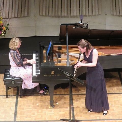 Romie de Guise-Langlois and I performing Leonard Bernstein's Sonata for Clarinet and Piano recently at the 25th Tucson Winter Chamber Music Festival (USA). Image: Chris Tanz . . . #classicalmusic #piano #pianist #classicalpiano #chambermusic #pianosolo #composer #musician #leonardbernstein