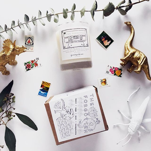 ✨candles and creatures and stamps and greens 😍 ————- #coconutwaxcandles #904 #jaxlocals #jaxcreatives #ethicallymade #ilovejax #imagination