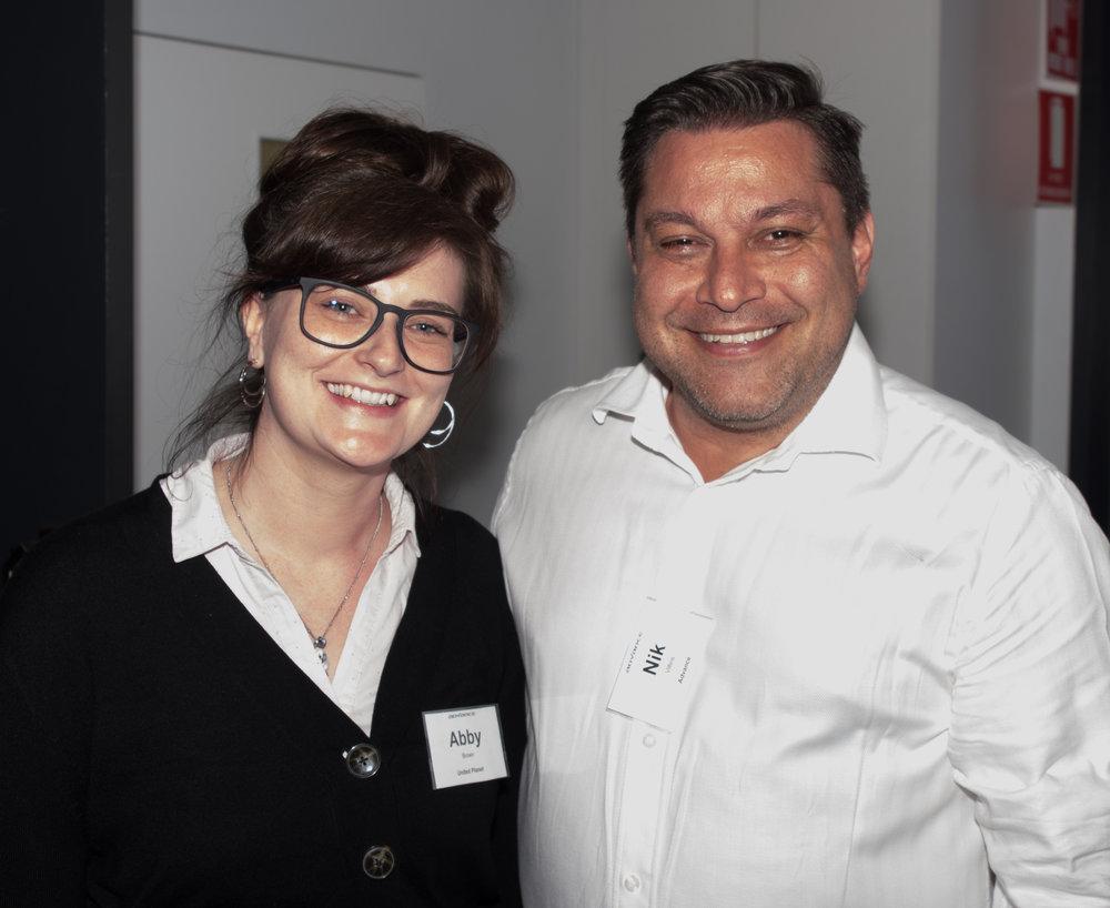 Abby Brown (Intrexx) & Nik Villios (Advance)