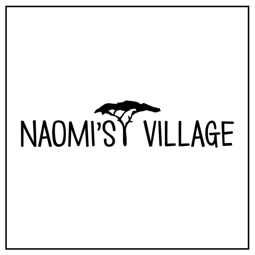 Naomi's Village Logo B+W Square.jpg