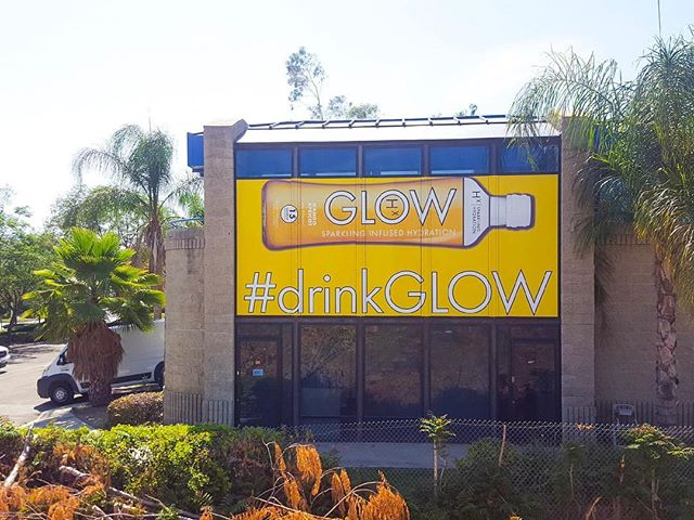 Driving on the 15 freeway near #RanchoCucamonga check out the new artwork! #drinkGLOW 😜