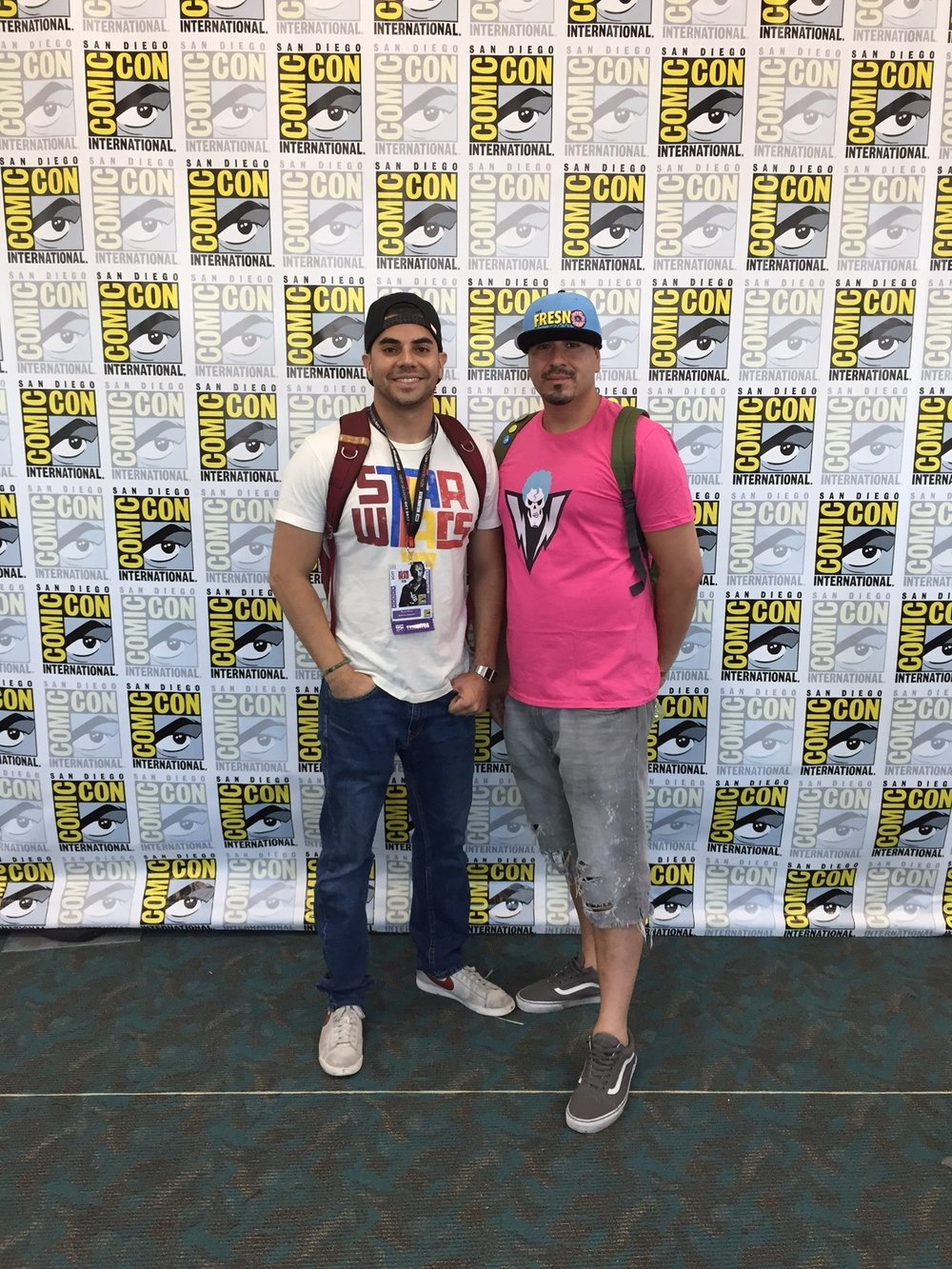 San Diego Comic Con 2017 - Miguel Wilson and Nerdy Chavez