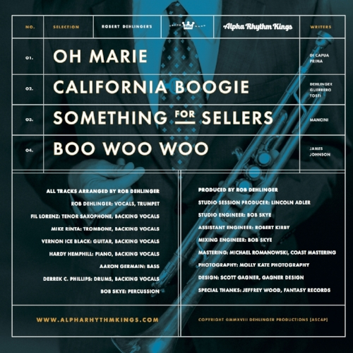 """""""California Boogie"""" Back Cover"""
