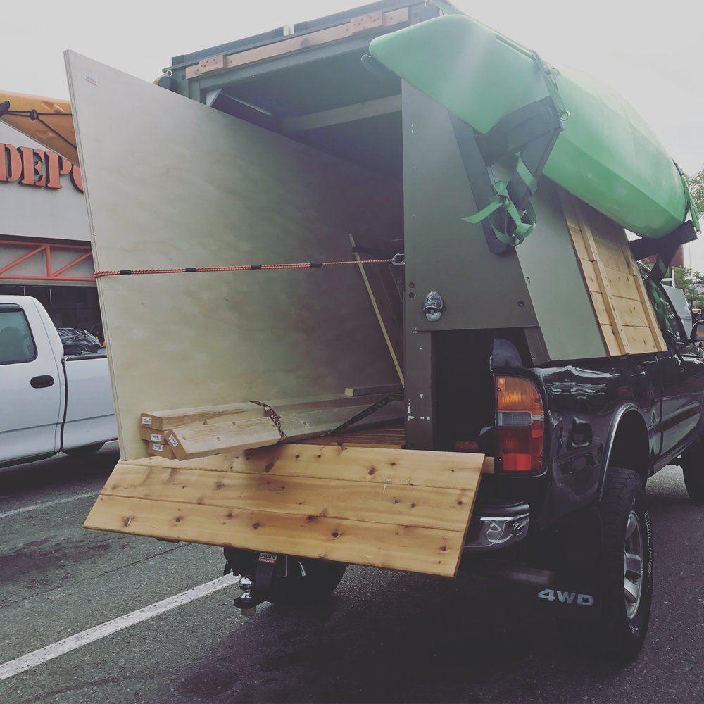 Haul more with your truck - Easily load plywood, lumber, & storage boxes into the Walden Cabin. Secure using tie-downs points or simply close the rear awning.