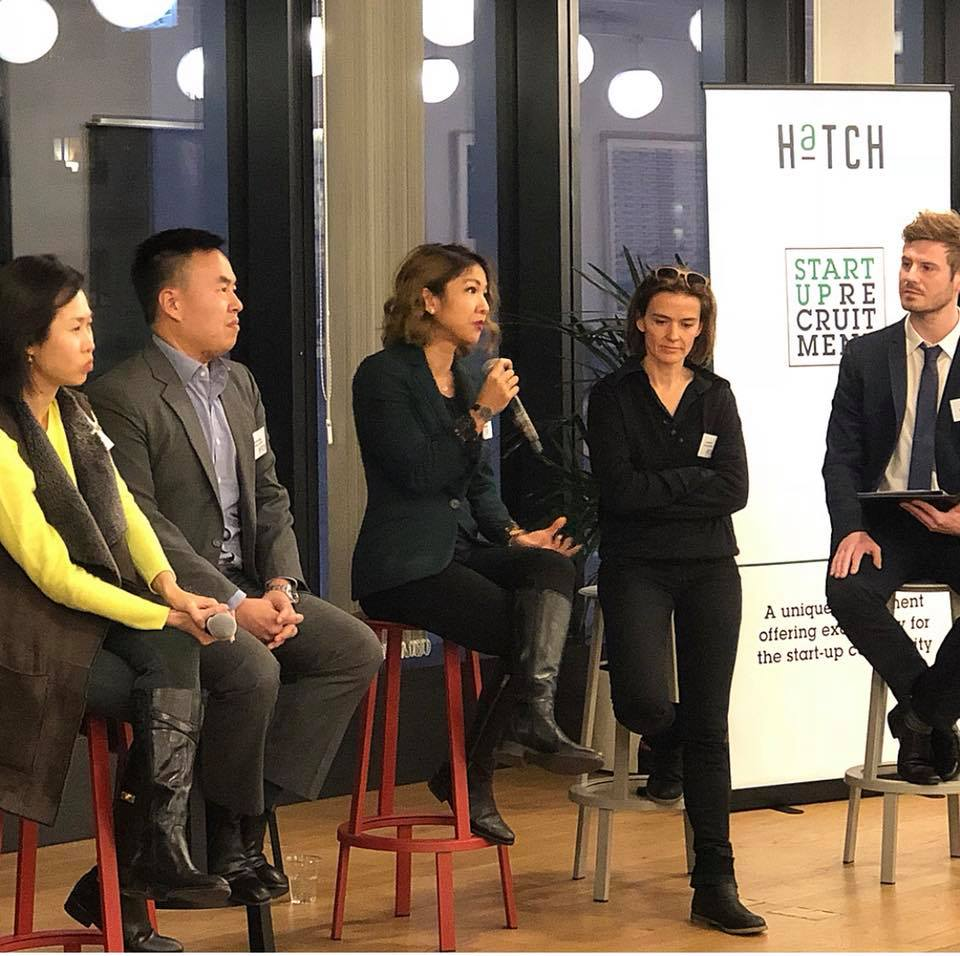 Left to right: Bonnie Chan-Woo (Icycle), Justin Leung (Ambition), Fyiona Yong (Wholistic Coachsulting), Karena Balin (WHub), Alex King (Ambition HaTCH)