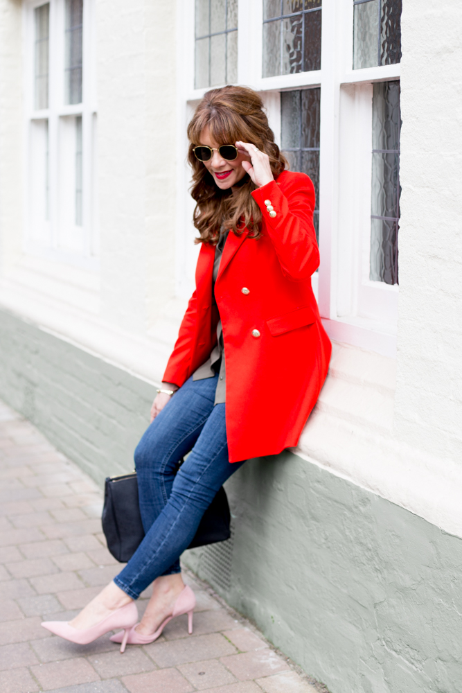 Styling Pink and red together, Fashion blogger, Top fashion blogger Sarah Bacchus