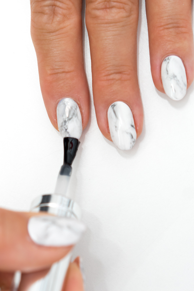 LFW Marble Nail Art Tutorial