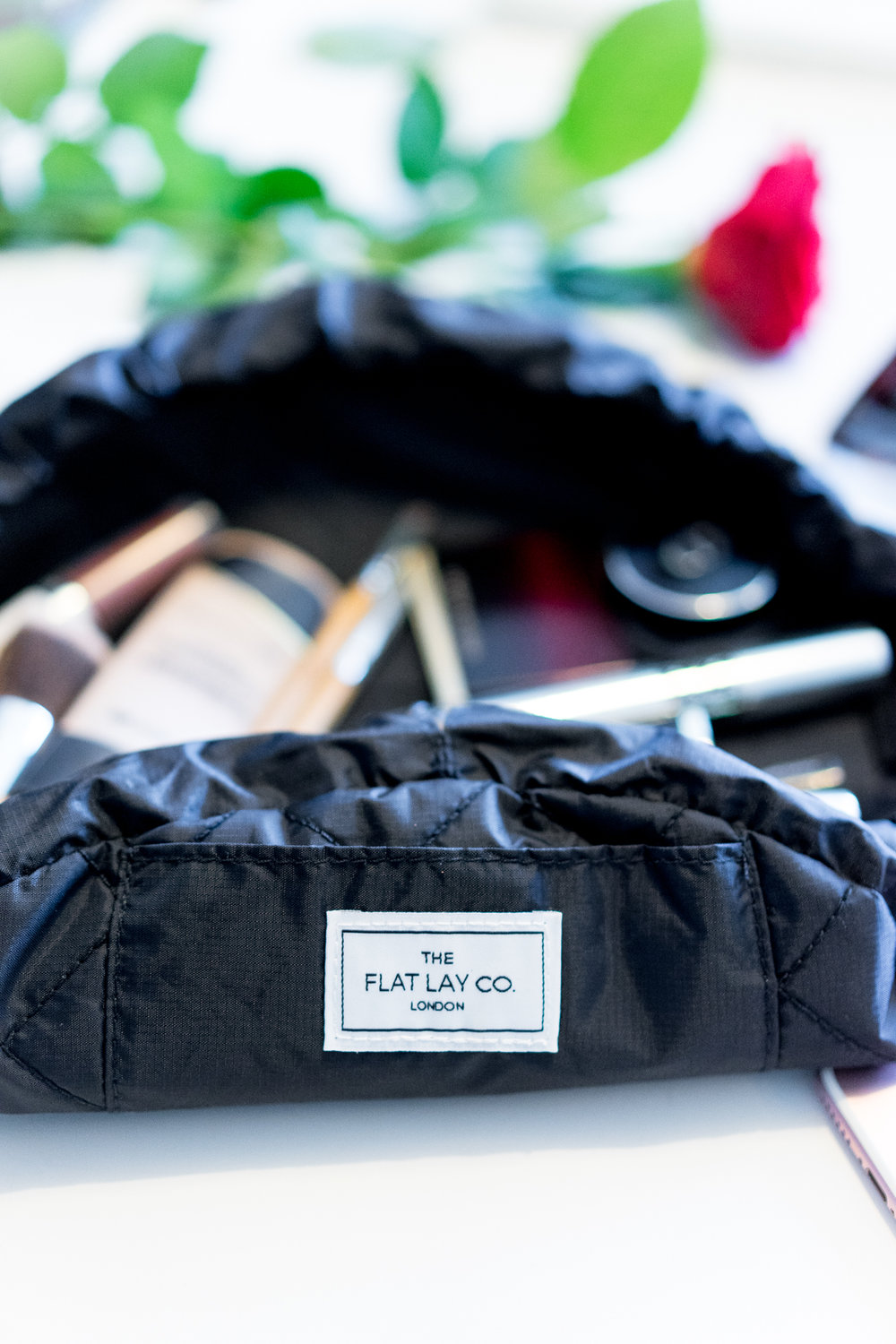 The Flat Lay Company Makeup Bag, Product photography,