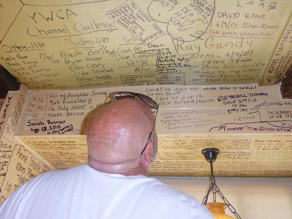 Name signing at White Horse Inn